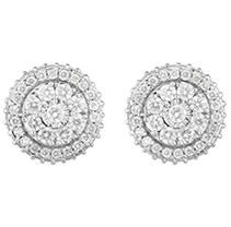 Click here for .95 ct. t.w. Diamond Earring 14KW prices