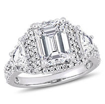 Click here for 3.75 CT Emerald Cut Diamond 3-Stone Halo Engagemen... prices