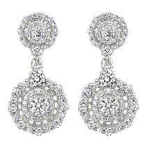 Click here for Christopher Designs 2.0 CT. T.W. Diamond Earring i... prices