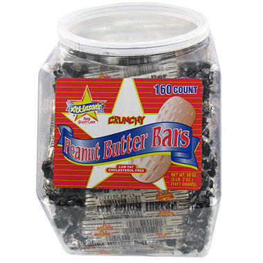 Peanut Butter Bars - 3 lb. Jar - 160 ct.