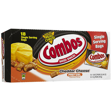 Pretzel with Cheddar Combos - 1.8 oz. Bag - 18 ct.