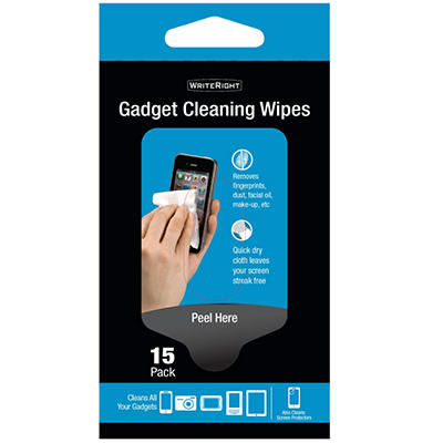 WriteRight Gadget Cleaning Wipes - 15 Pack