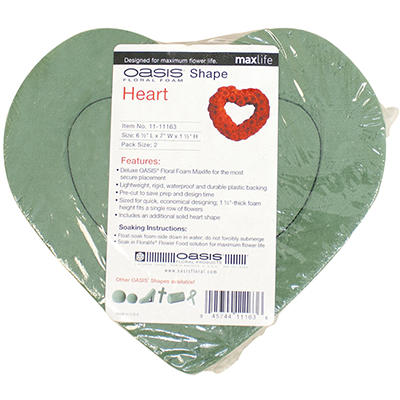OASIS Heart Shaped Floral Foam