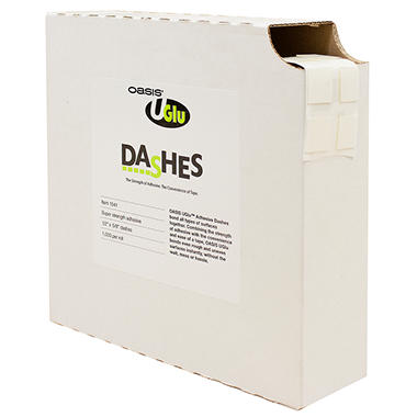 UGLU Adhesive Dashes - 1000 roll ct.