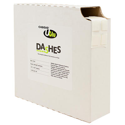 UGLU Adhesive Dashes, 12 1000ct rolls