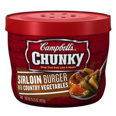 Campbell's Micro Chunky Sirloin Burger - 15.25 oz. Cup - 12 ct.