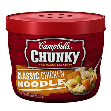 Campbell's Micro Chunky Chicken Noodle - 15.25 oz. Cup - 12 ct.