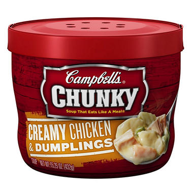 Campbell's Micro Chunky Chicken and Dumpling - 15.25 oz. Cup - 12 ct.