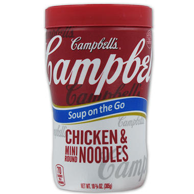 Campbell's Chicken Noodle Soup at Hand - 10.75 oz. Cup - 8 ct.