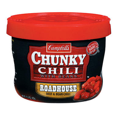 Campbell's Roadhouse Chili - 15.25 oz. Cup - 12 ct.