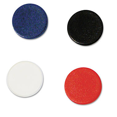"MasterVision - Interchangeable Magnetic Characters, Circles, Assorted, 3/4"" Diameter - 10/Pack"