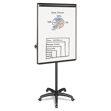 MasterVision - Silver Easy Clean Dry Erase Mobile Presentation Easel -  44