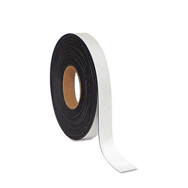 "MasterVision - Dry Erase Magnetic Tape Roll, White - 1"" x 50 Ft."