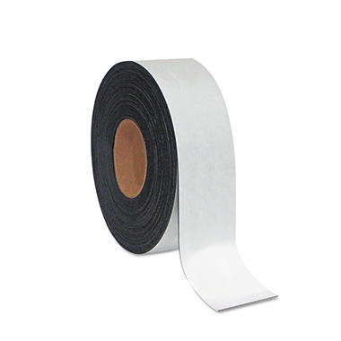 "MasterVision - Dry Erase Magnetic Tape Roll, White - 2"" x 50 Ft."