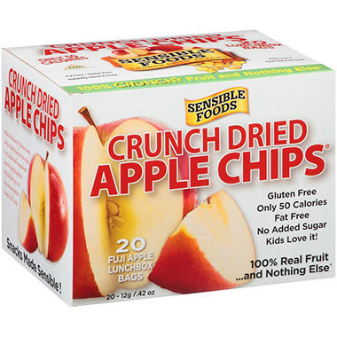 Sensible Foods Crunch Dried Fuji Apple Chips - 0.42 oz. - 20 ct.