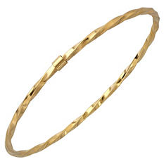 """7.5"""" Twisted Bangle in 14K Yellow Gold"""