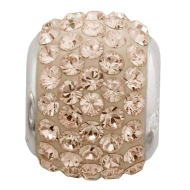 Golden Shadow Genuine Swarovski Crystal Charm Bead in Sterling Silver