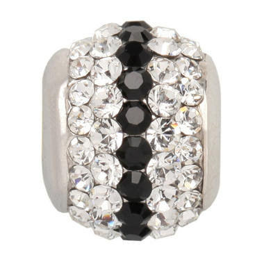Violet Genuine Swarovski Crystal Charm Bead in Sterling Silver