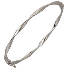"7"" Twisted Bangle in 14K White Gold"