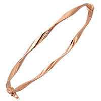 "7"" Twisted Bangle in 14K Rose Gold"