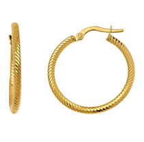 Click here for 14KY EARRING 2X20MM ROUND HOOP prices