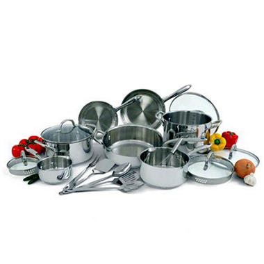 Wolfgang Puck Stainless Steel Cookware Set - 18 pc.