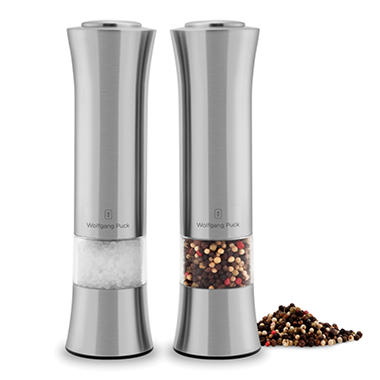Wolfgang Puck Stainless Steel Salt and Pepper Mill Set
