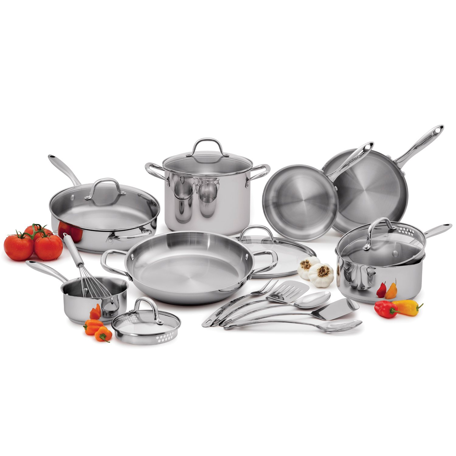 Details about 18pc Wolfgang Puck Stainless Steel Cookware