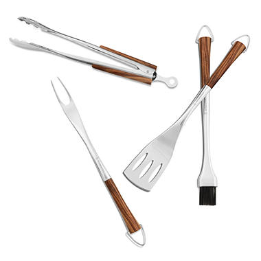 Wolfgang Puck 4 Piece Acaica BBQ Tool Set