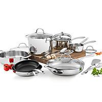 Wolfgang Puck 18-Piece Stainless Steel Cookware Set