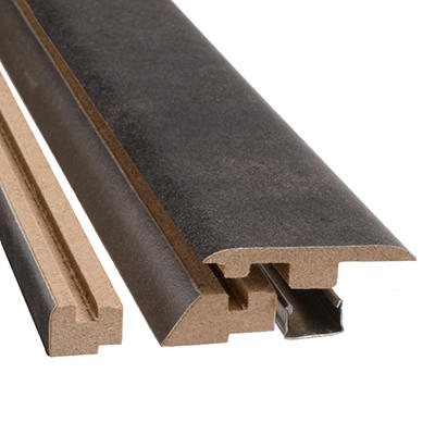 "SimpleSolutions™ Four-in-One Molding - Aged Steel - 78.75"" Long"