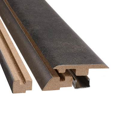 "SimpleSolutions? Four-in-One Molding - Aged Steel - 78.75"" Long"