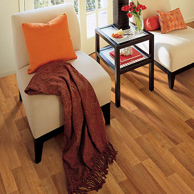 Traditional Living� Premium Laminate Flooring - West End Oak; 8MM + 2MM Underlayment Thick - 1PK