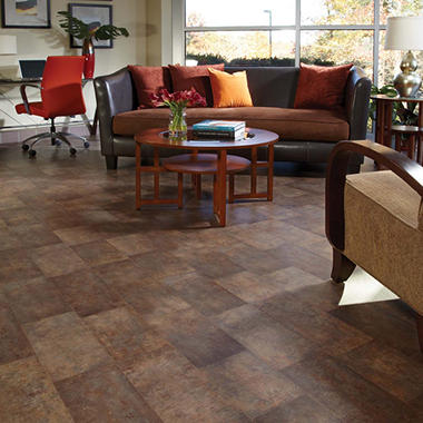 Traditional Living� Premium Laminate Flooring - Aged Steel; 8MM + 2MM Underlayment Thick - 1PK