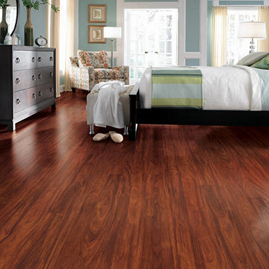 Traditional Living� Premium Laminate Flooring - Mayfair Mahogany; 10MM + 2MM Underlayment Thick - 1PK