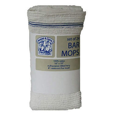 Bakers & Chefs Bar Mops - 24 pk.