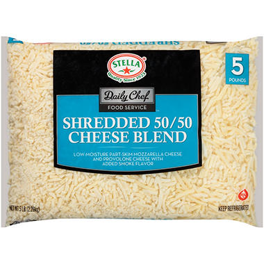 Daily Chef Food Service Shredded 50/50 Cheese Blend (5 lb.)