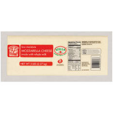 Bakers & Chefs Whole Milk Mozzarella - 5 lbs.