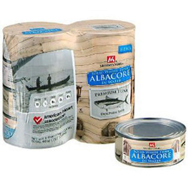 Member's Mark Solid White Albacore in Water - 8/5 oz. cans