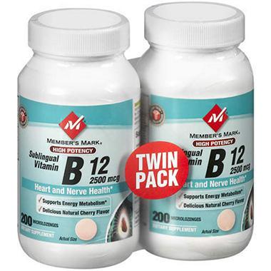 Member's Mark® Sublingual Vitamin B12 - 2/200ct