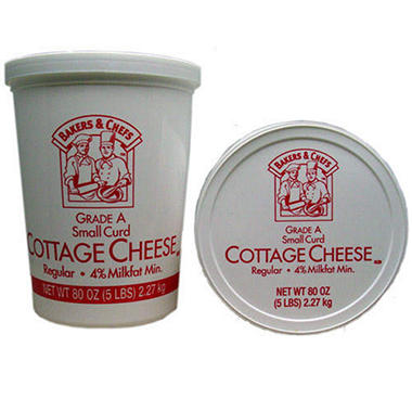 Bakers & Chefs Small Curd Cottage Cheese - 5 lbs.