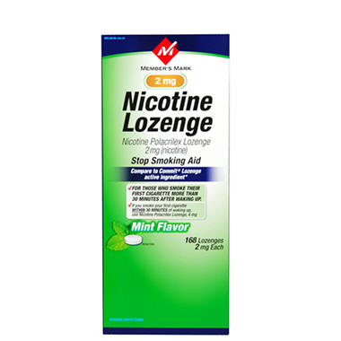 Member's Mark® Nicotine Lozenge - 2mg/168ct