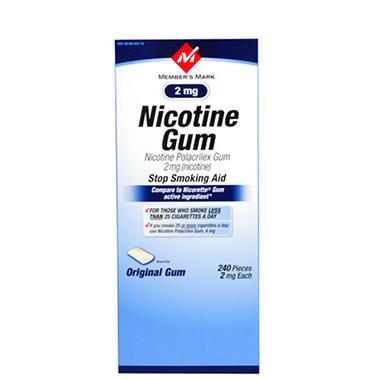 Member's Mark® Original Nicotine Gum - 2mg/240ct