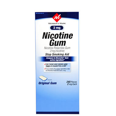 Member's Mark® Original Nicotine Gum - 2mg/240ct