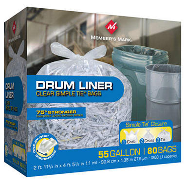 Member's Mark� Simple Tie� Drum Liners - 55 gal - 80 ct.