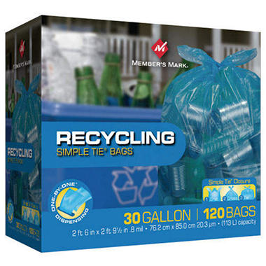Member's Mark� Simple Tie� Recycling Bags - 30 gal - 120 ct.