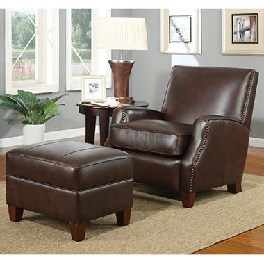 Stratton Chair and Ottoman by Home Meridian