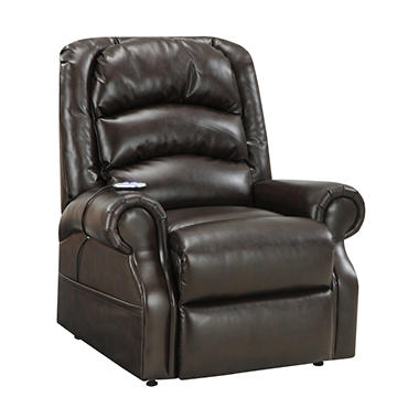 Home Meridian Hayden Power Lift Chair - Chocolate Bonded Leather