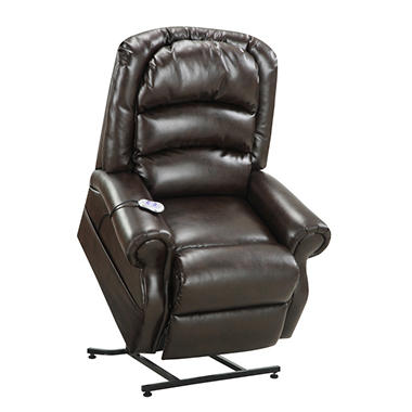 Home Meridian Hayden Power Lift Chair With Heat and Massage - Chocolate Bonded Leather