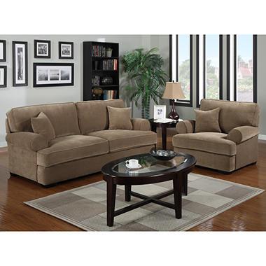 Lancaster Stationary Living Room Set - 2 pc.